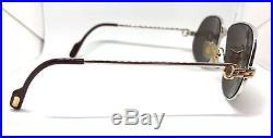 Cartier Panthere 1988 Silver Vintage Eyeglasses / Sunglasses 56-14 Louis santos