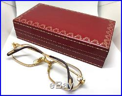 Cartier Panthere 1989 GOLD with BOX Vintage Eyeglasses / Sunglasses Louis santos