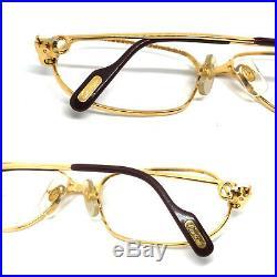 Cartier Panthere 54-15 130 GOLD Vintage Eyeglasses / Sunglasses santos 11014