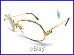 Cartier Panthere GOLD Vintage Eyeglasses / Sunglasses 56-17 135 Louis santos