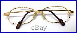 Cartier Panthere GOLD Vintage Eyeglasses / Sunglasses 56-17 Louis santos