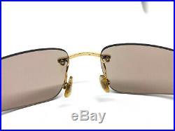 Cartier Panthere Rimless GOLD Vintage Eyeglasses / Sunglasses Louis santos