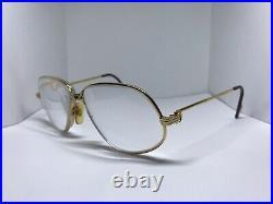 Cartier Panthere Vendome Decor Gold Vintage Sunglasses Glasses Eyeglasses Frame