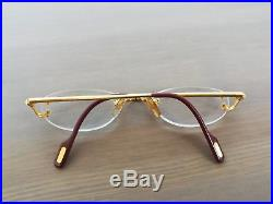 Cartier Paris 20 Rimless Gold Eyeglasses Frame Made In France