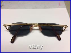 Cartier Paris 24k Gold Filled Rimless Eyewear Eyeglasses Frame Rare Vintage