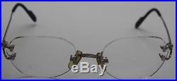 Cartier Paris Rimless Platinum SS Eye Glasses w. Original COA & Cases REF1981553