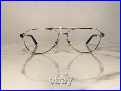 Cartier Platinum Santos DuMont Sunglasses Glasses Eyeglasses Frame Vintage