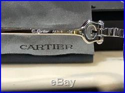 Cartier Platinum Spider Vintage Sunglasses Glasses Frame Metal Wire Brushed