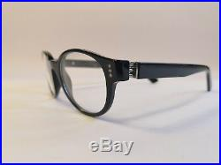 Cartier Premiere Luxury Black Eyeglasses 49-20 Hand Made in France Very Rare