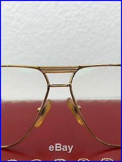 Cartier Rare Frames With Lenses Paris France 140 Gold Vintage Eyeglasses 59-12