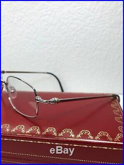 Cartier Rare Frames With Lenses Paris France 140 Silver Vintage Eyeglasses