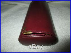 Cartier Red Burgundy Leather Sunglass Eyeglass Hard Case Vintage