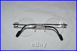 Cartier Rimless Circular Eyeglasses VINTAGE RARE 135 1635067 MADE IN FRANCE RX