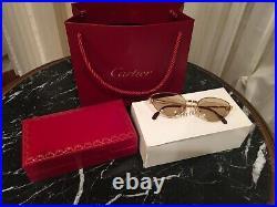 Cartier Rivoli Cat Eye Sunglasses Orig Cartier Lenses 100% Authentic