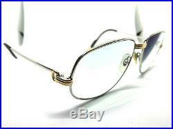Cartier Romance Louis 1986 Vintage Eyeglasses / Sunglasses Gold Silver 56-16-130