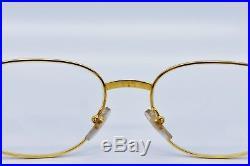 Cartier Segur T8100.330 Eyeglasses Rimmed Edition Gold Plated