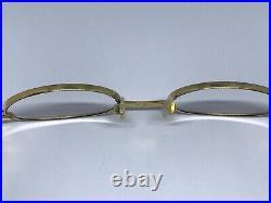 Cartier Sicier Gold Vintage Sunglasses Glasses Eyeglasses Frame