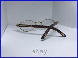 Cartier Sicier Gold Wood Vintage Sunglasses Glasses Eyeglasses Frame