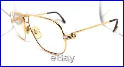 Cartier Tank 1988 59-12 With Case Vintage! Eyeglasses / Sunglasses Louis santos