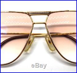 Cartier Tank 62-12 Gold Vintage Eyeglasses / Sunglasses Vendome Santos Trinity