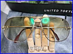 Cartier Tank Silver Vintage Eyeglasses / Sunglasses Trinity 64-12