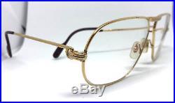 Cartier Tank Vintage Eyeglasses / Sunglasses Trinity 62-12