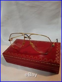 9f7465c886 Cartier Vendome Santos Vintage Sunglasses Lunettes Sonnenbrille Gold  Eyeglasses