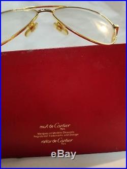 Cartier Vendome Santos Vintage Sunglasses Lunettes Sonnenbrille Gold Eyeglasses