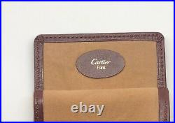 Cartier Vintage Burgundy Bordeaux Leather Eyeglasses Optical Frame Pouch Case