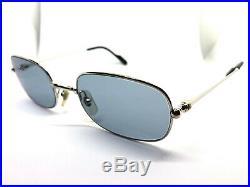 Cartier Vintage Eyeglasses / Sunglasses Silver Trinity 54-21-140