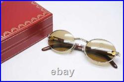 Cartier Vintage Glasses 5120 135b White Rare Sunglasses