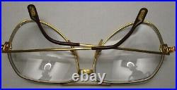 Cartier Vintage Gold Teardrop Aviator Frame, Glasses 62 14 140