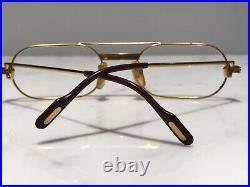 Cartier Vintage Must C Decor Gold Vintage Sunglasses Glasses Eyeglasses Frame