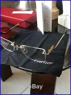 Cartier Vintage Rimless Panther Eye Glasses Women Style