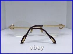 Cartier Vintage Scala C Decor Gold Vintage Sunglasses Glasses Eyeglasses Frame