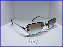 Cartier Vintage Scala C Decor Platinum Sunglasses Glasses Eyeglasses Frame
