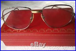 Cartier vintage glasses frame Registered Ref number 975298 with Cartier case