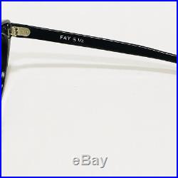 Cat Eye Glasses Frame Black Rhinestones Pearls Fay France Eyeglasses Vintage