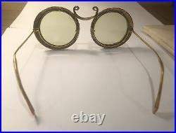 Christian Dior by Tura Enameled Jeweled Eye Glasses 1967 Vintage Collector Rare