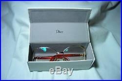 Christian Dior eyeglasses oversized round oval women's frames gold plated vintag