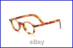Classic, smaller Vintage 30s acetate eyeglasses in demi amber K10