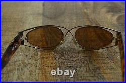 Claude Montana Vintage Glasses 582 0303 Tortoise Gold Tone Wire Frames