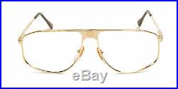 Club LA 7000 Men's Improved Aviator Large Gold Eyeglasses Frames 90s France NOS