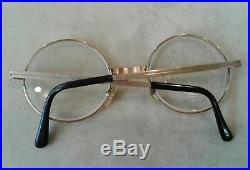 Cottet 14k Gold Owl Eyeglasses 20/000 France Prescription Bifocal Lense Glasses