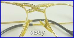 Diamond 18K Gold Cartier Eyeglasses Vintage 1996 with Jeweler App $33,500