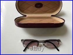 Double C Décor precious glasses rimless solid 18K 750 White Gold Vintage