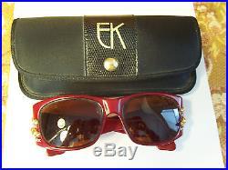 EMANUELLE KHANH RARE jeweled eye VINTAGE glasses handmade in France withcase xlnt