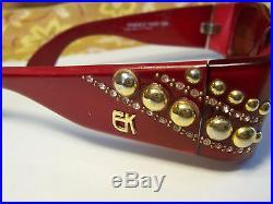 EMANUELLE KHANH designer jeweled eye glasses handmade in France withcase xlnt