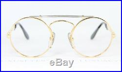 ETTORE BUGATTI 11708 Round Vintage Eyeglasses Frame Glasses Rare Narrow 46-22