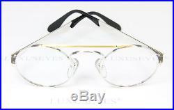 ETTORE BUGATTI 11709 Round Vintage Eyeglasses Frame Glasses Rare Narrow 46-22
